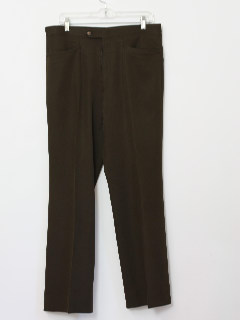 1970's Mens Polyester Flared Leisure Pants