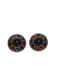 1980's Womens Accessories - Clip Earrings