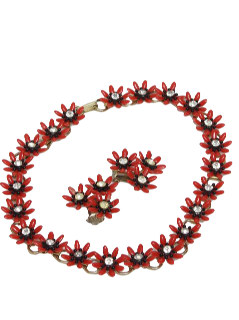 1950's Womens Accessories - Clip Earrings and Choker Necklace