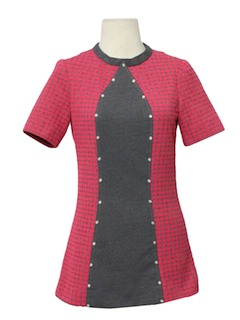 1970's Womens Micro Mini Knit Dress