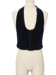 1970's Mens Velvet Tuxedo Vest