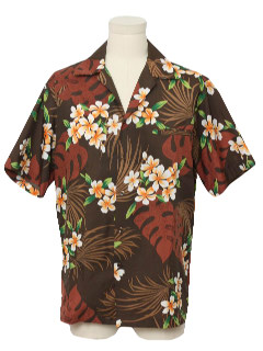 1970's Mens Print Hawaiian Shirt