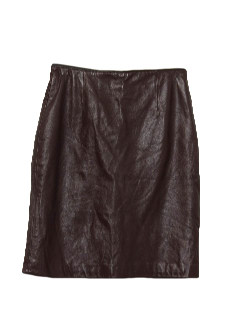 1980's Womens Leather Mini Skirt
