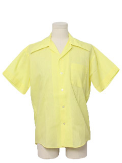 1970's Mens Solid Mod Shirt