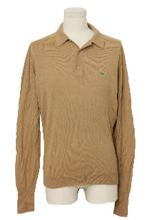 1980's Mens Izod Knit Shirt