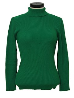 1970's Womens Mod Turtleneck Sweater