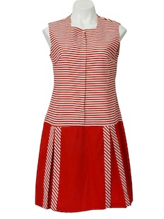 1960's Womens Mod Style Romper Dress