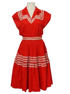 1950's Womens Fab Fifties Square Dancing Dress