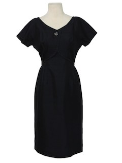 1950's Womens Silk Semi-Formal New Look Cocktail Dress
