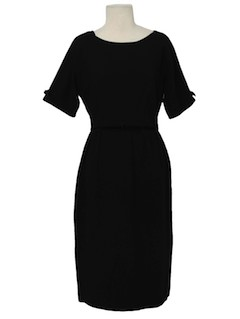 1960's Womens Silk Semi-Formal New Look Cocktail Dress