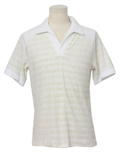 1970's Mens Terry Cloth Shirt