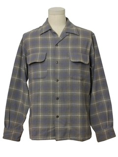1950's Mens Big E LEVIS Wool Board Shirt