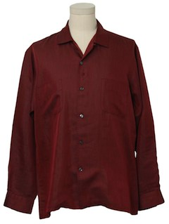 1960's Mens Shark Skin Mod Sport Shirt