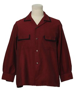 1940's Mens Shark Skin Sport Shirt
