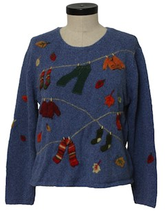 1980's Womens Cheesy Kitschy Sweater