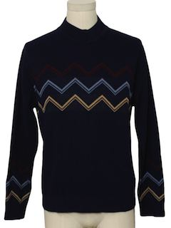 1970's Mens Mod Pullover Sweater