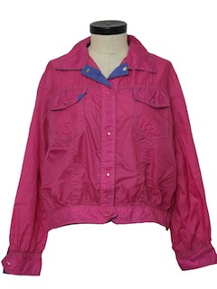 1980's Womens Windbreaker Jacket