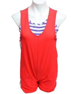 1980's Womens Romper Beach Suit Style Swimsuit