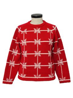 1960's Womens Snowflake Ski Sweater