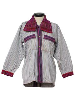1980's Womens Hippie Shirt Jacket