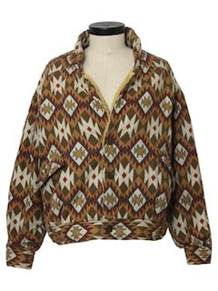 1980's Womens Hippie Style Coat Jacket