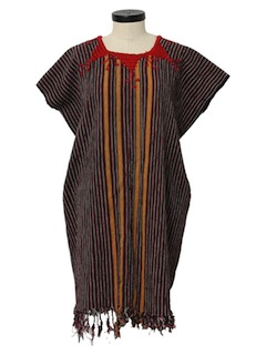 1980's Womens Hippie Dress Tunic