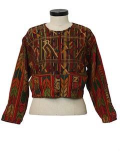 1980's Womens Guatemalan Hippie Style Jacket