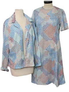 1970's Womens Disco Dress & Jacket
