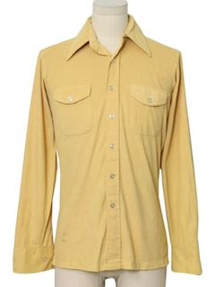 1970's Mens Velour Sport Shirt