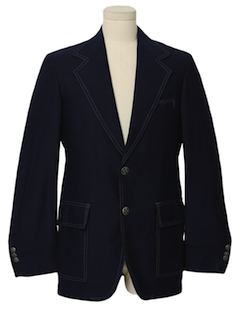 1970's Mens Mod Disco Sport Jacket