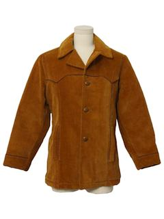 1980's Mens or Boys Western Style Corduroy Car Coat