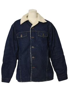 1980's Mens Jean Coat Jacket