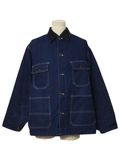 1980's Mens Denim Rail Road Style Jacket