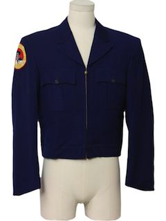 1960's Mens Eisenhower Ike Style Uniform Blazer Jacket