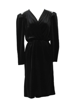 1980's Womens Semi-formal Little Black Totally 80s Cocktail Dress