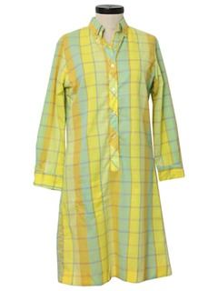 1960's Womens Mod A-line House Dress