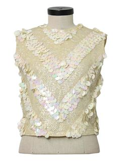 1960's Womens Beaded Cocktail Shirt