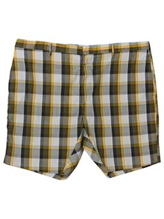 1960's Mens Mod Plaid Shorts