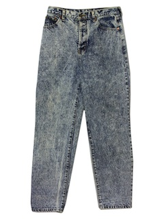1980's Womens Acid Washed Jeans Pants