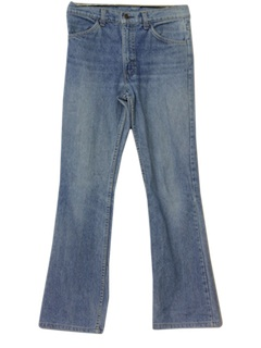 1970's Mens Levis Deep Flared Jeans Pants