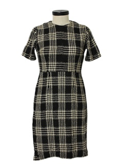 1960's Womens Wool Blend Day Dress