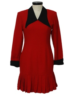 1990's Womens Wicked 90s Wool Dress