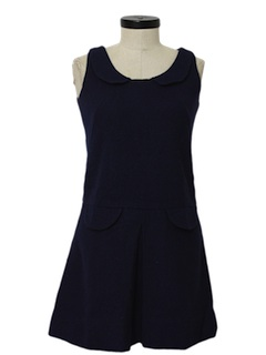 1970's Womens Wool A-line Dress