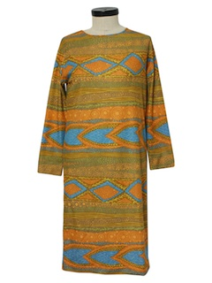 1970's Womens Mod Hippie Dress