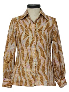 1970's Womens Hippie Style Disco Shirt