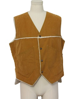 1980's Mens Faux Leather Vest