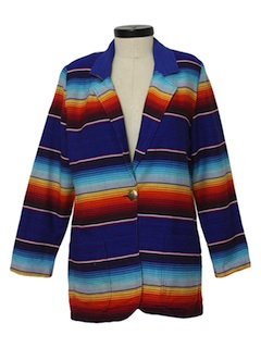 1980's Womens Totally 80s Western Style Hippie Blazer Jacket