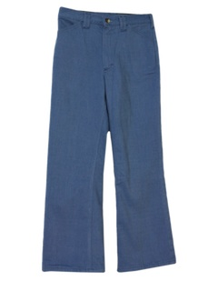1970's Mens Flared Leg Jeans Cut Pants