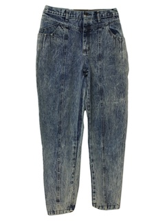 1980's Womens Designer Totally 80s Acid Wash Jeans Pants