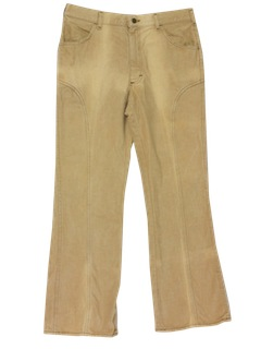 1970's Mens Western Jeans Cut Pants